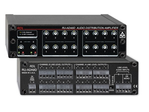 RDL Introduces RU-ADA8D 2x8 or 1x16 Audio Distribution Amplifier